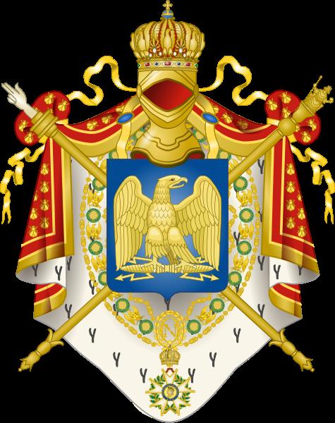 Les armoiries du 1er Empire sous Napoléon 1er (1804-1814)